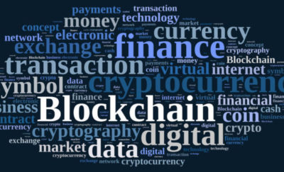 52039260 – illustration with word cloud with the word blockchain.