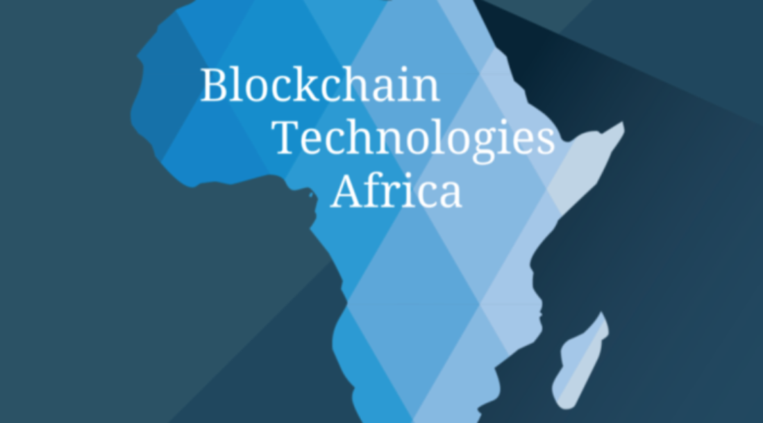 "a photo of a map's view of Africa with the words ""Blockchain Technologies Africa"" written on it as the idea of a Ghana BlockChain land registry is an ongoing discussion"