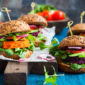 Vegetable burgers made to look and taste like beef