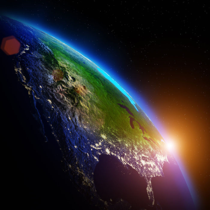 a photo of the Earth from outer space amid the advancements in Satellite Imaging Technology