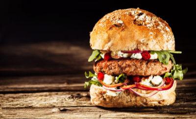 Vegetarian alternative to a beef burger
