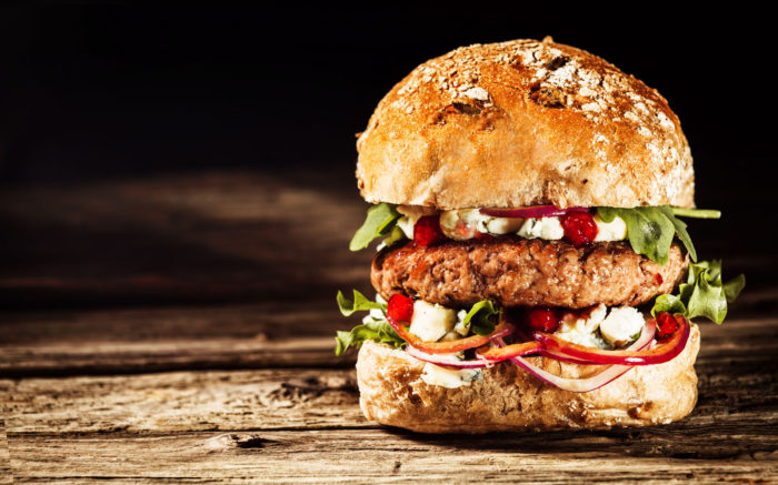 Vegetarian alternative to a beef burger