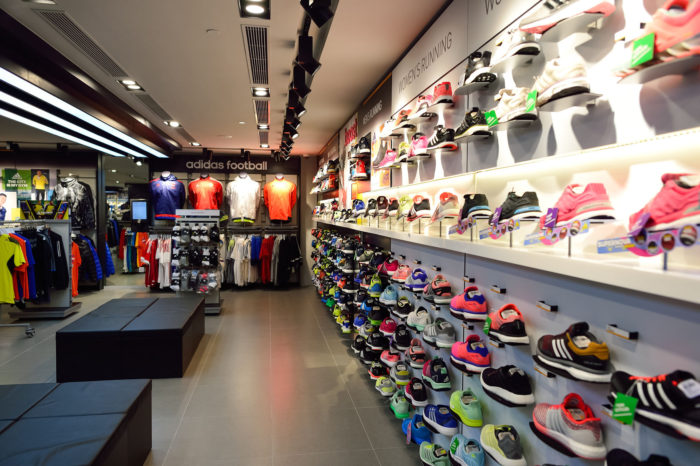photo of Adidas store and footwear products