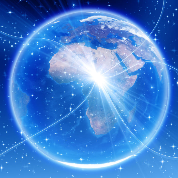 world wide web connecting with African continent