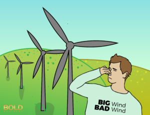 Wind energy as inefficient energy source