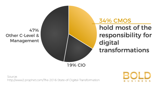 a photo of a pie graph in relation to Digital Transformation