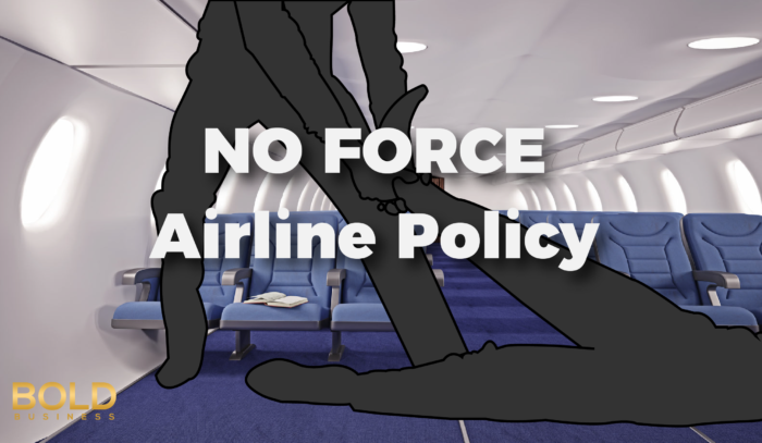 Against Force Airline Policy Because of the United Airlines Dragging Passenger Incident