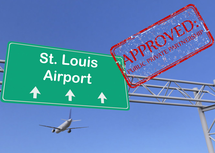 image of st. louis airport green sign