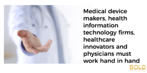 Physicians working on health tech innovations