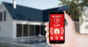 Home security system - sending alarms to smartphones