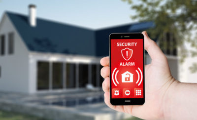 Home security – smartphones with alarms