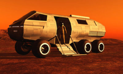 The 'Batmobile' , a mars exploration vehicle to navigate the red planet