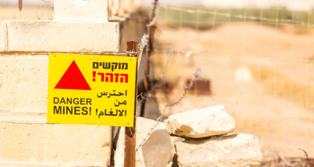 Sign saying Danger Mines.