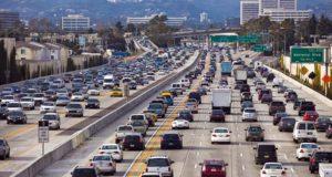 traffic on highway in LA