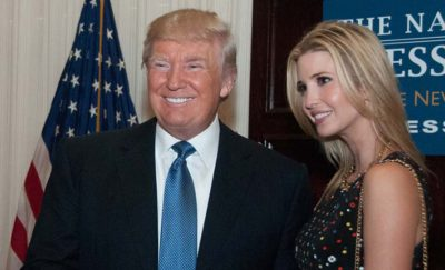Donald Trump and Ivanka Trump smiling for a photo-op amid the discussion on Donald Trump ideas
