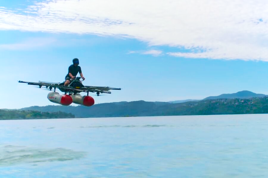 Kitty Hawk flyer on the lake