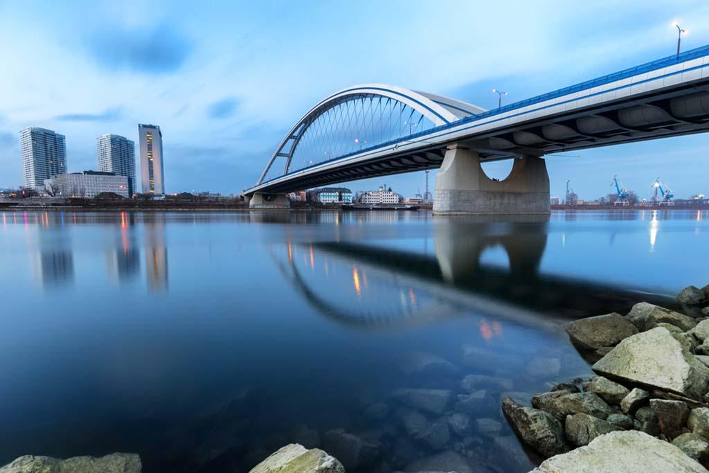 Modern bridge in Slovakia