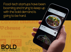 UberEATS is an on-demand food service.
