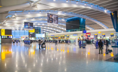 heathrow airport terminal in the UK