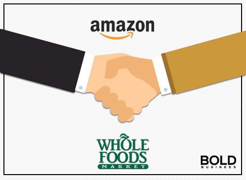 a photo of a handshake representing the reality of the Amazon Acquisition of Whole Foods
