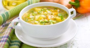 bowl of organic soup