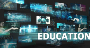 Educational Technologies arranged in collage.