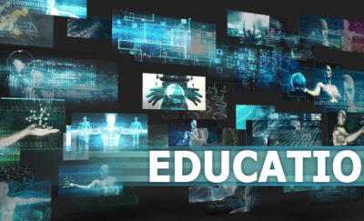 75567255 – education presentation background with technology abstract art