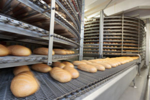 Bread factory with automated robotics