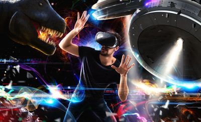 Google Blocks and a Guy with Oculus Rift and VR worlds.