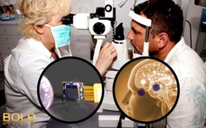 Flatscope and brain represent helping the blind see.