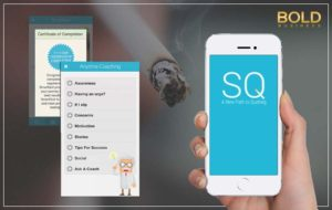 Smart Quit on a smartphone.