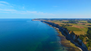 Coastline of Normandy aerial view.