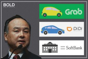 Masayoshi Son and some of his companies.