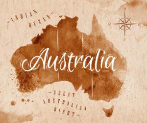 Australia in a map