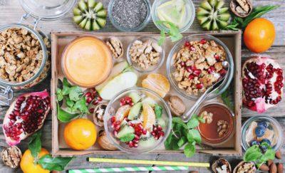 Healthy foods for breakfast.