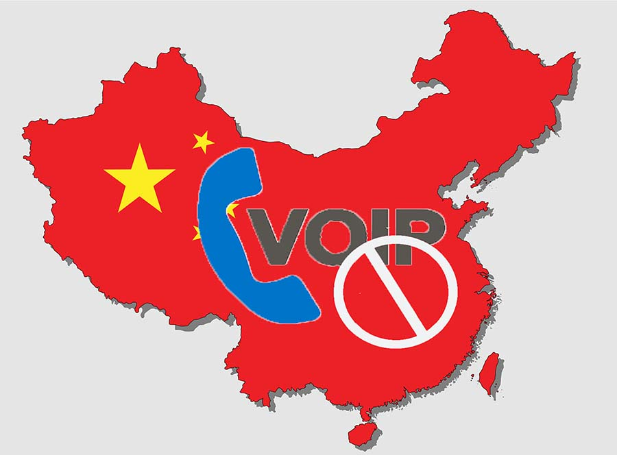 An Image of China VPN crackdown banning VOIP calls.