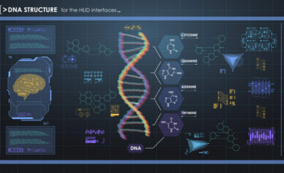 a photo of a Helix and formulas for gene selection capabilities amid the reality of gene editing