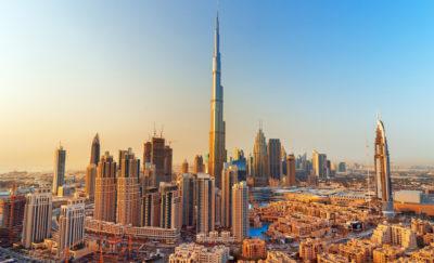 Dubai, UAE aerial view