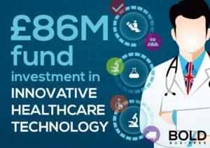 Graphic of fund for British healthcare initiative.