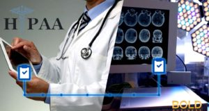 Doctor Using Tablet and brain scan images
