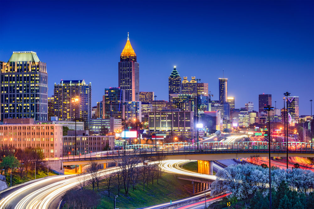 The Atlanta Skyeline from 85.