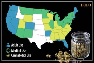 states with marijuana legal and illegal.