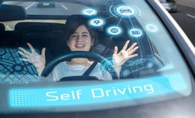 No hands self driving car