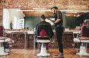 A stylish barber shop.