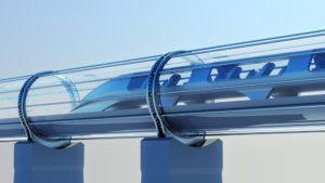 rendering of a hyperloop train