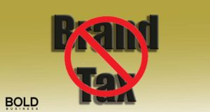 no brand tax sign.