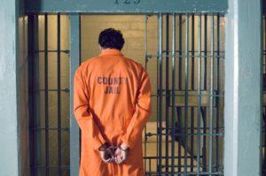 Prisoner in jail.