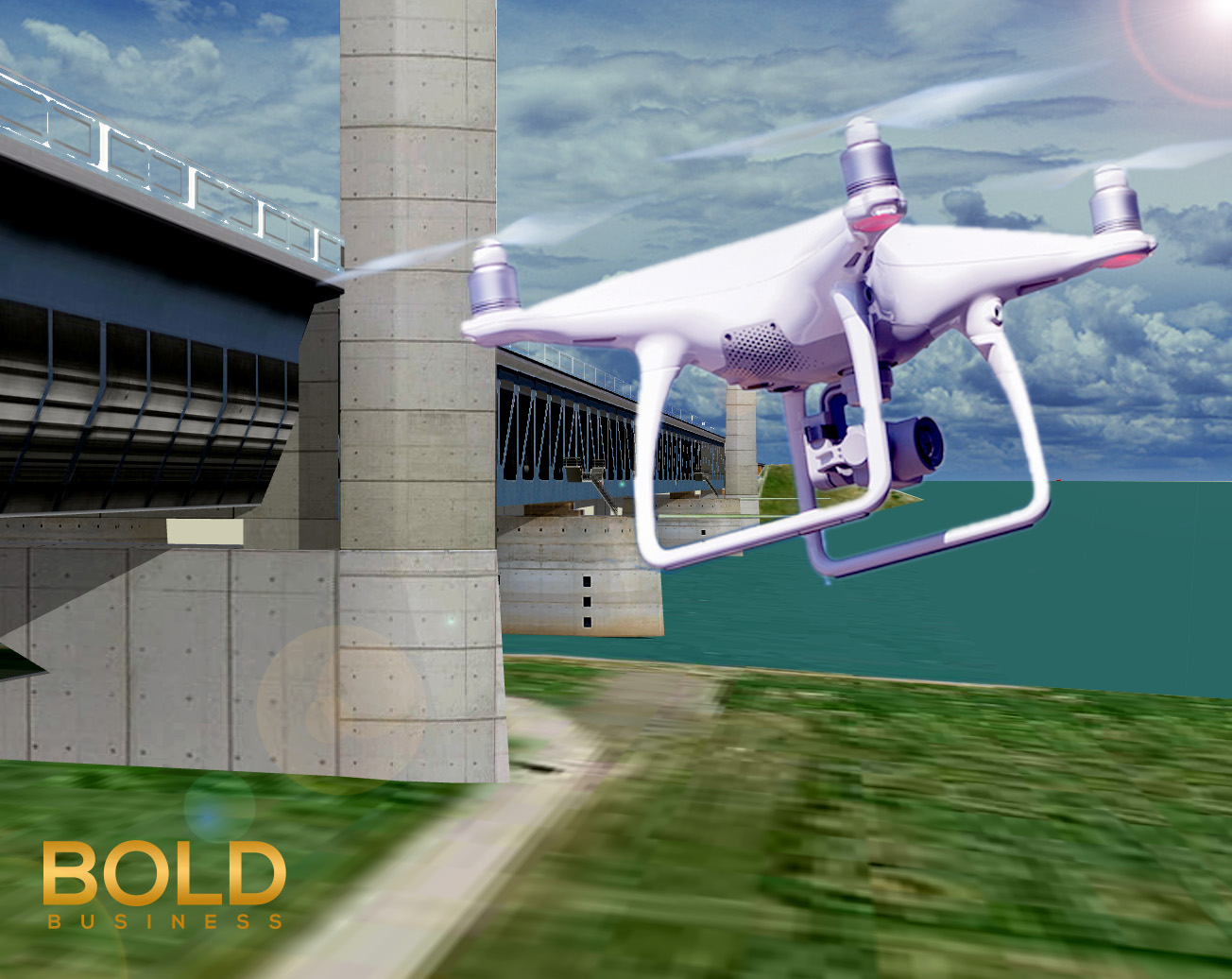 Railway Infrastructure Monitoring by Drones on Train Bridges to Improve safety