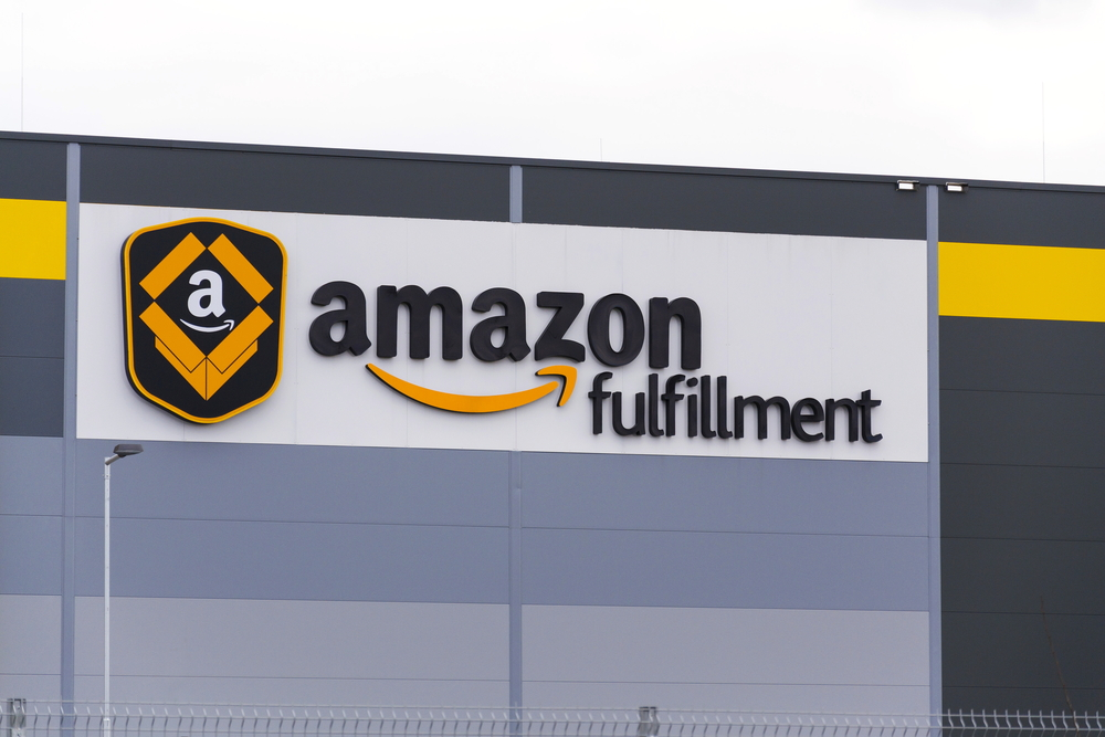 An Amazon fulfillment center - Amazon Private Label Brands