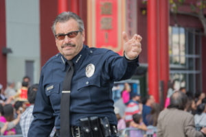 Charlie Beck LAPD in parade.